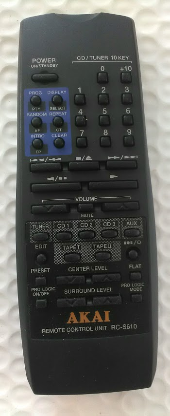 REMOTE CONTROL AKAI CD/TUNER 10 KEY